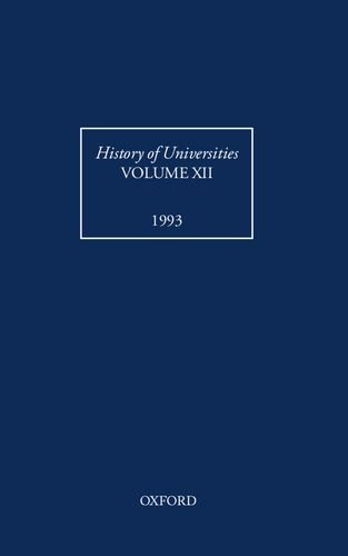 History of Universities, Vol. XII 1993