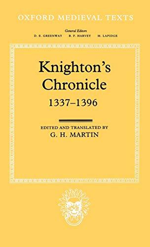 9780198205036: Knighton's Chronicle 1337-1396 (Oxford Medieval Texts)
