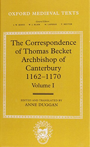 9780198208921: Correspondence of Thomas Becket: 001