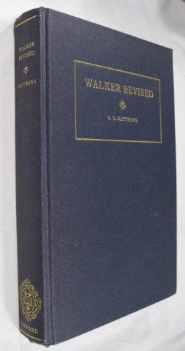 9780198212645: Walker Revised: Being a Revision of John Walker's Sufferings of the Clergy During the Grand Rebellion 1642-60