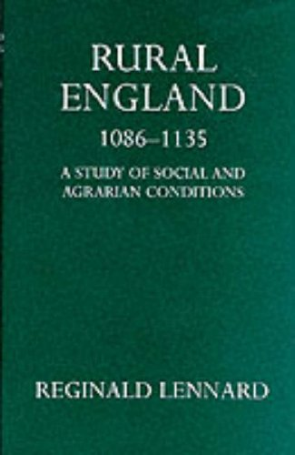 9780198212720: Rural England, 1086-1135 (Oxford University Press academic monograph reprints)
