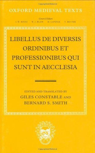 9780198222187: Libellus de Diversis Ordinibus et Professionibus Qui Sunt in Aecclesia (Oxford Medieval Texts)