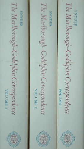 9780198223818: The Marlborough Godolphin Correspondence