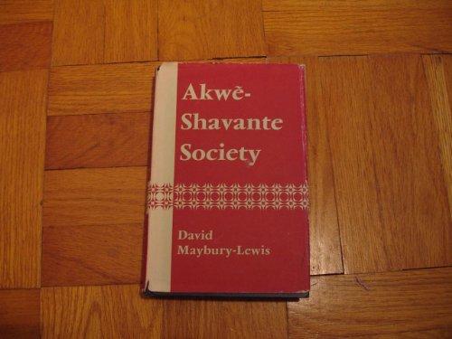 9780198231295: Akwe-Shavante Society: Social Organization of a Brazilian Tribe