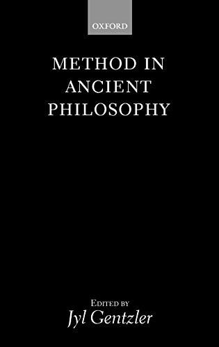 9780198235712: Method in Ancient Philosophy
