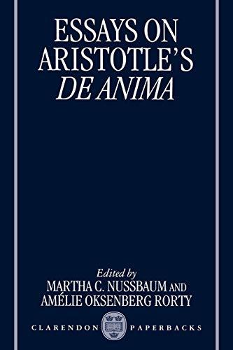 9780198236009: Essays on Aristotle's De Anima (Clarendon Aristotle)