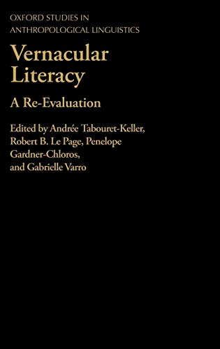 Vernacular Literacy: Tabouret-Keller, Le Page