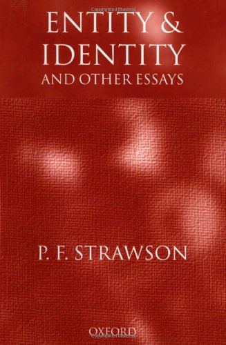 9780198236450: Entity and Identity: And Other Essays