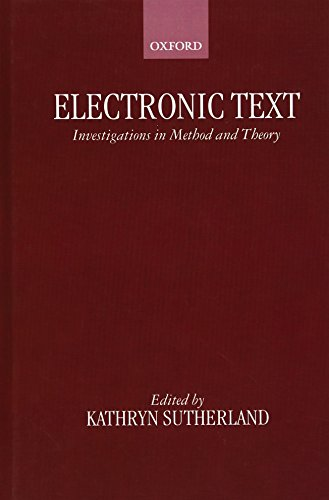 9780198236634: Electronic Text: Investigations in Method and Theory