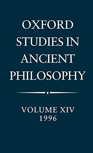 9780198236702: Oxford Studies in Ancient Philosophy: Volume XIV: 1996: 1996 Vol 14