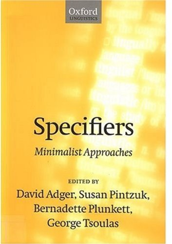 9780198238133: Specifiers: Minimalist Approaches