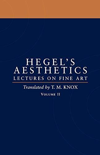 9780198238171: Aesthetics: Lectures on Fine Art Volume II: Vol 2