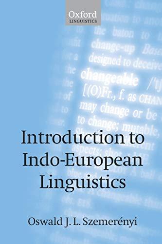 9780198238706: Introduction to Indo-European Linguistics (Oxford Linguistics)