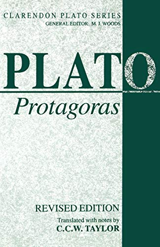 9780198239345: Protagoras (Clarendon Plato Series)