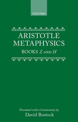 9780198239468: Metaphysics: Bks. Z & H (Clarendon Aristotle Series)