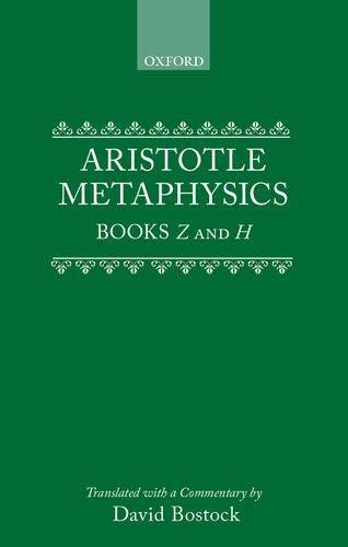 9780198239468: Metaphysics: Books Z and H (Clarendon Aristotle Series)
