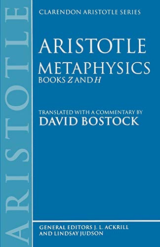 9780198239475: Metaphysics: Books Z and H (Clarendon Aristotle Series): Bks.Z & H