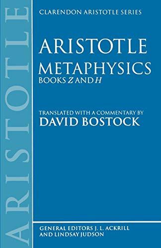 9780198239475: Metaphysics: Books Z and H (Clarendon Aristotle Series)