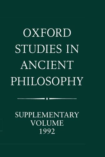 9780198239512: Oxford Studies in Ancient Philosophy: Supplementary Volume 1992: Methods of Interpreting Plato and his Dialogues