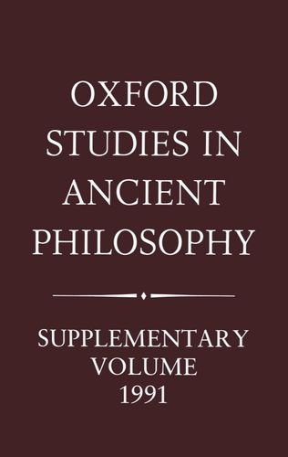 9780198239659: Aristotle and the Later Tradition: Oxford Studies in Ancient Philosophy, Supplementary Volume 1991