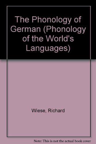 9780198240402: The Phonology of German (Phonology of the World's Languages)