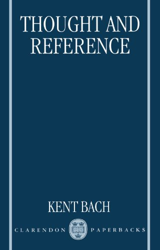 9780198240778: Thought and Reference (Clarendon Paperbacks)