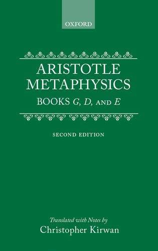 9780198240860: Metaphysics: Books Gamma, Delta, and Epsilon (Clarendon Aristotle Series) (Bks. 4-6)