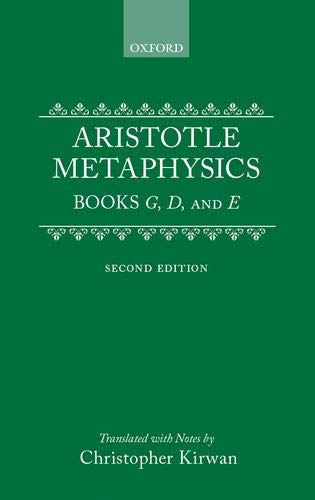 9780198240860: Metaphysics: Books Gamma, Delta, and Epsilon (Clarendon Aristotle Series) (Bks. 4-6)