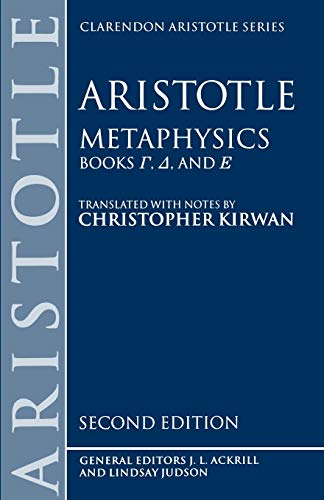 9780198240877: Metaphysics: Books Gamma, Delta, and Epsilon: Gamma, Delta, Epsilon Bks.4-6 (Clarendon Aristotle Series)