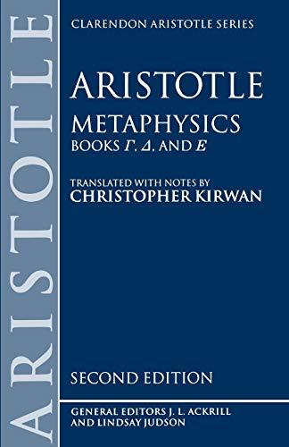 9780198240877: Metaphysics: Books Gamma, Delta, and Epsilon: Gamma, Delta, Epsilon Bks.4-6 (Clarendon Aristotle Series)