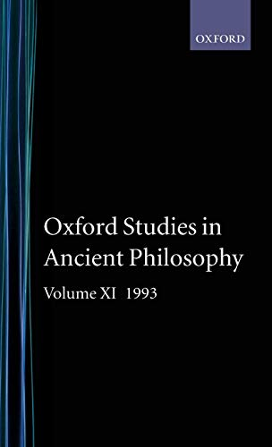 Oxford Studies in Ancient Philosophy: Volume XI: 1993 (0198240953) by Taylor, C. C. W.
