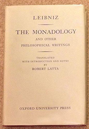 9780198241409: Monadology