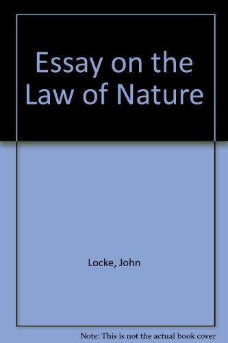 essays on the law of nature the latin text a  9780198241423 essay on the law of nature