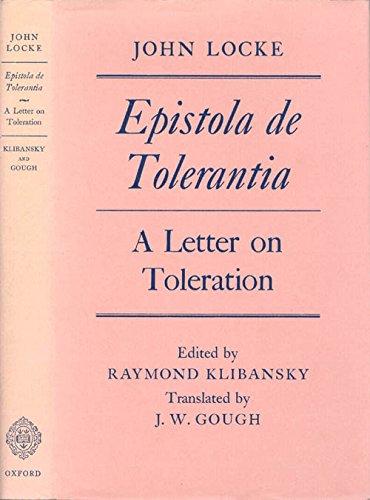 9780198243083: Epistola de Tolerantia, A Letter on Toleration