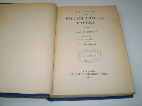 9780198243465: Philosophical Papers