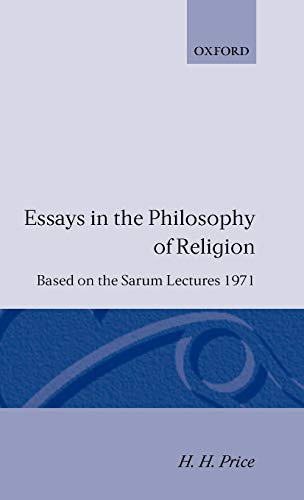 9780198243762: Essays in the Philosophy of Religion (Sarum Lectures,)