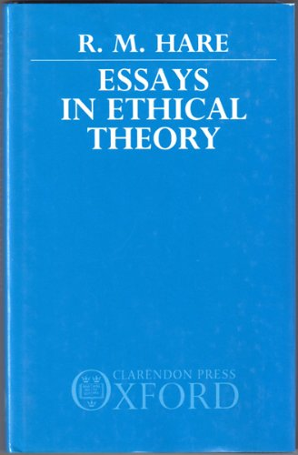 9780198244394: Essays in Ethical Theory