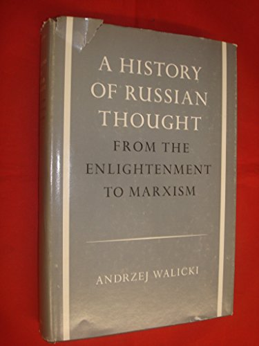 9780198245230: A History of Russian Thought: From the Enlightenment to Marxism