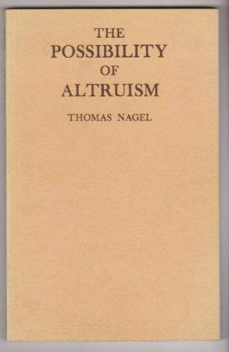 9780198245582: Possibility of Altruism