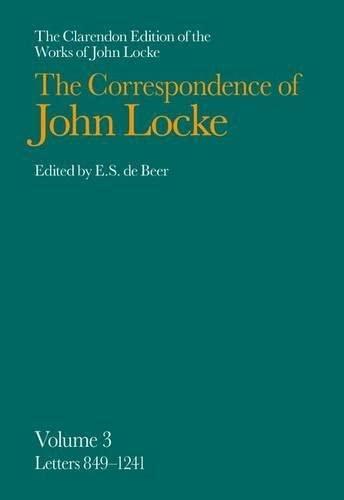 9780198245605: John Locke: Correspondence: Volume III, Letters 849-1241: 003
