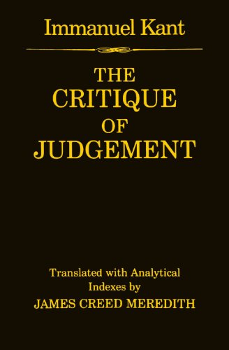 9780198245896: The Critique of Judgement: (containing Kant's