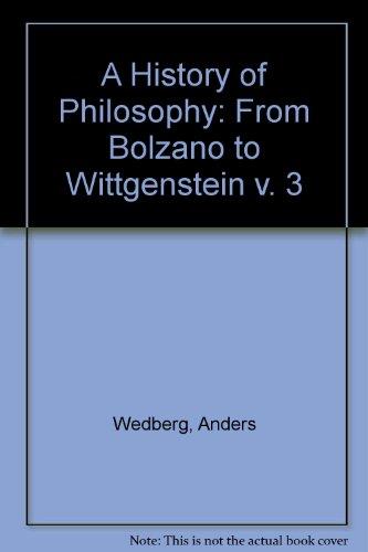 A History of Philosophy Vol. 3 : Anders Wedberg