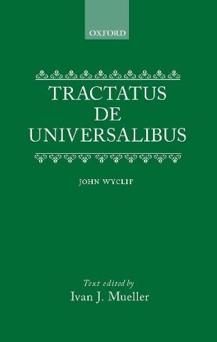 9780198246800: De Universalibus: Volume I: Tractatus de Universalibus: 001