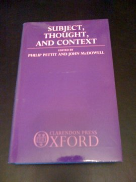 9780198247364: Subject, Thought and Context