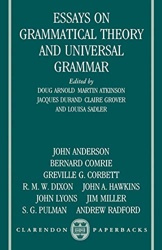 9780198248972: Essays on Grammatical Theory and Universal Grammar (Clarendon Paperbacks)
