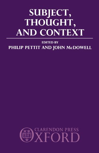 9780198249443: Subject, Thought and Context