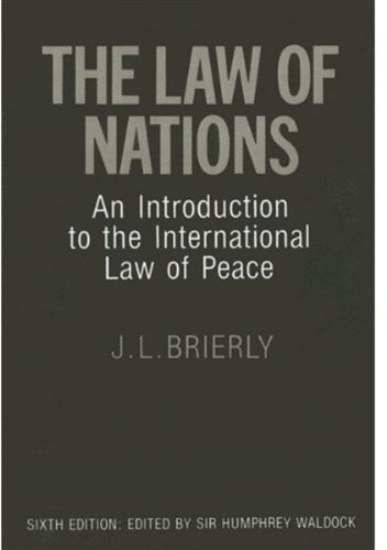9780198251057: The Law of Nations: An Introduction to the International Law of Peace