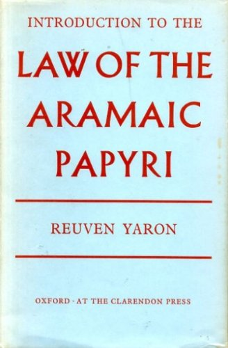 9780198251545: Introduction to the Law of the Aramaic Papyri