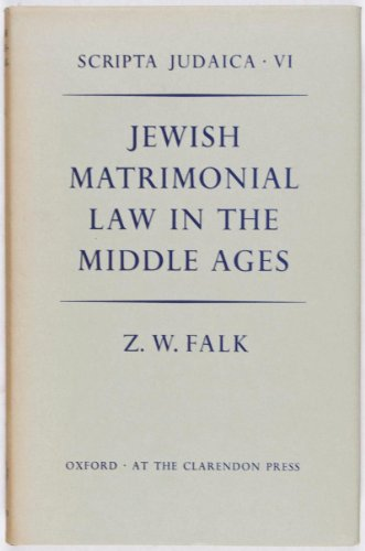 9780198251675: Jewish Matrimonial Law in t he Middle Ages