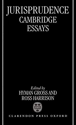 9780198252894: Jurisprudence: Cambridge Essays